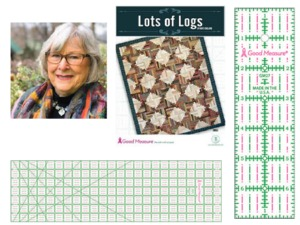Good Measure GM501 Lots of Logs Quilt Pattern by Kaye England + GM7X24 and GM27 Ruler Bundle