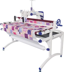 97115: Juki Miyabi J-350QVP S Sit Down 18x10in Longarm Free Motion Quilting Machine/Stand