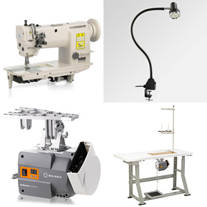 """Reliable 3200TN 1/4"""" Double Needle Feed Sewing Machine, 4000RPM Power Stand, 7/14mm Foot Lift, M Bobbins, Safety Clutch, Auto Oil (Replaces MSK-8220B)"""
