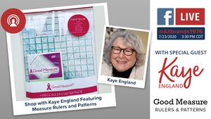 FREE Virtual Showcase with Kaye England on Thursday July 23rd, at 3:30 CST / 4:30 EST