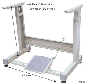 98279: Yamata T Legs Stand Assembly Only without Table Top, Drawer or Motor, Knocked Down Unassembled for Industrial Sewing Machines and Tops