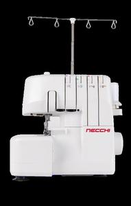Necchi L234 Serger 2 Needle, 3 or 4 Thread Overlock Machine with Differential Feed, 12 Built-In Stitches, 1,300 SPM