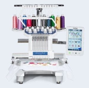 Brother Entrepreneur Pro X PR1055X Demo 10-Needle Embroidery Machine, Upgrade from PR1050X