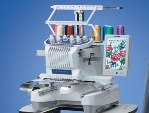 "Brother PR1055X 10-Needle 8"" x 14"" Embroidery Quilting Machine"