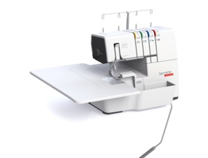 98428: Bernette 64 Airlock 2/3/4 Thread Freearm Jet Air Serger, Micro Thread Control, Color Coded, Knee Lift Tension Release, Safety Door, Extension Table