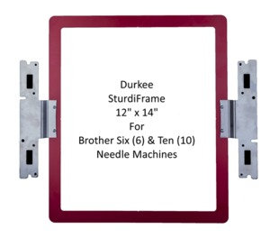 "Brother SASTURDY12, X14"" DURKEE Split Design Hoop Frame for Six & Ten Needle PR650 PR655 PR670 PR1000 PR1050 PR1050X requires PEDesign 11 Software"