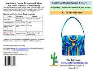 Southwest Denim Designs & More K125 The Jellybean Pattern