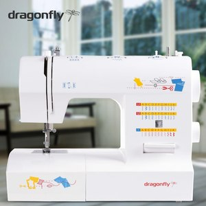 Dragonfly, Gemsy, DF2235, Sewing Machine, 35 Stitches, Buttonhole, 4 Step Buttonhole, Front Loading Bobbin, Dragonfly Gemsy DF2235 Multi-Function Domestic Mechanical Sewing Machine 35 Stitches, Adjustable Presser Foot Pressure, 4 step buttonhole, Metal B.C.