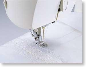 Brother SA162 5 Groove Pintuck Cord Foot, All Metal Snap On, for using Double or Twin Needles for Heirloom Sewing on Machines