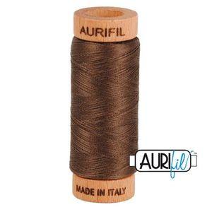 Aurifil 1080-1140 Cotton Mako Thread, 80wt 280m BARK