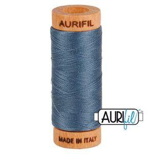 Aurifil 1080-1158 Cotton Mako Thread, 80wt 280m MEDIUM GRAY