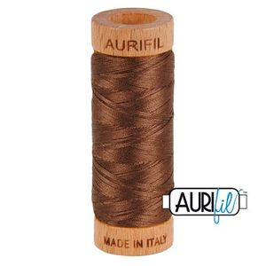 Aurifil 1080-1285 Cotton Mako Thread, 80wt 280m MEDIUM BARK