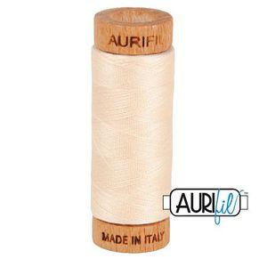 Aurifil 1080-2000 Cotton Mako Thread, 80wt 280m LIGHT SAND