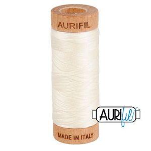 Aurifil 1080-2026 Cotton Mako Thread, 80wt 280m CHALK