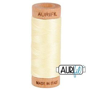 Aurifil 1080-2110 Cotton Mako Thread, 80wt 280m LIGHT LEMON