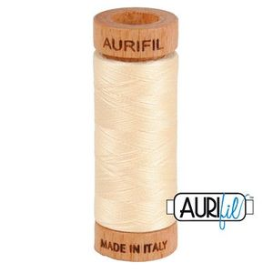 Aurifil 1080-2123 Cotton Mako Thread, 80wt 280m BUTTER