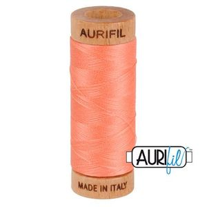 Aurifil 1080-2220 Cotton Mako Thread, 80wt 280m LIGHT SALMON