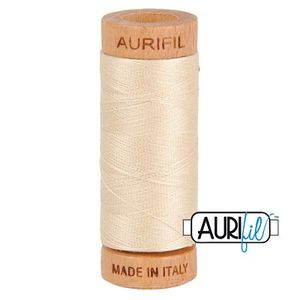 Aurifil 1080-2310 Cotton Mako Thread, 80wt 280m LIGHT BEIGE