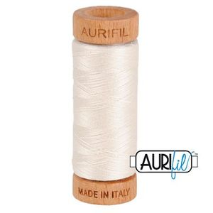 Aurifil 1080-2311 Cotton Mako Thread, 80wt 280m MUSLIN