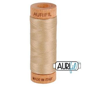 Aurifil 1080-2326 Cotton Mako Thread, 80wt 280m SAND