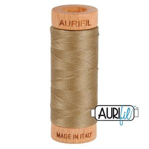 Aurifil 1080-2370 Cotton Mako Thread, 80wt 280m SANDSTONE
