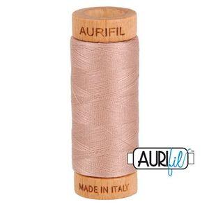Aurifil 1080-2375 Cotton Mako Thread, 80wt 280m ANTIQUE BLUSH