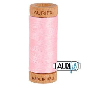 Aurifil 1080-2423 Cotton Mako Thread, 80wt 280m BABY PINK