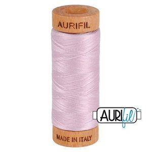 Aurifil 1080-2510 Cotton Mako Thread, 80wt 280m LIGHT LILAC