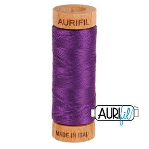 Aurifil 1080-2545 Cotton Mako Thread, 80wt 280m MEDIUM PURPLE