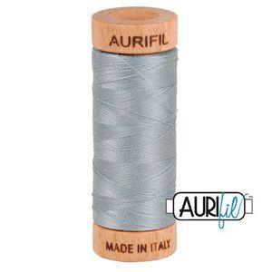 Aurifil 1080-2610 Cotton Mako Thread, 80wt 280m LIGHT BLUE GRAY