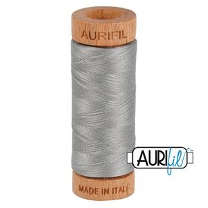 Aurifil 1080-2620 Cotton Mako Thread, 80wt 280m STAINLESS STEEL