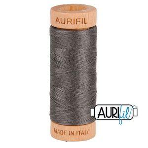 Aurifil 1080-2630 Cotton Mako Thread, 80wt 280m PEWTER