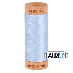 Aurifil 1080-2710 Cotton Mako Thread, 80wt 280m LIGHT ROBINS EGG