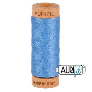 Aurifil 1080-2725 Cotton Mako Thread, 80wt 280m LIGHT WEDGEWOOD