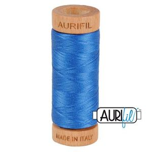 Aurifil 1080-2730 Cotton Mako Thread, 80wt 280m DELFT BLUE