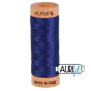 Aurifil 1080-2745 Cotton Mako Thread, 80wt 280m MIDNIGHT BLUE