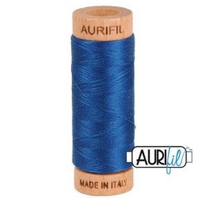 Aurifil 1080-2783 Cotton Mako Thread, 80wt 280m MEDIUM DELFT BLUE