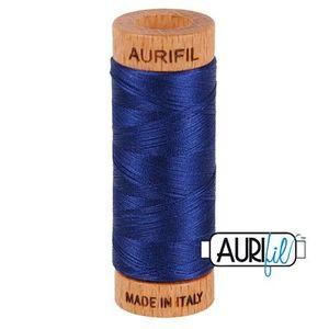 Aurifil 1080-2784 Cotton Mako Thread, 80wt 280m DARK NAVY