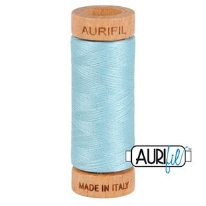 Aurifil 1080-2805 Cotton Mako Thread, 80wt 280m LIGHT GRAY TURQUOISE