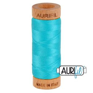 Aurifil 1080-2810 Cotton Mako Thread, 80wt 280m TURQUOISE