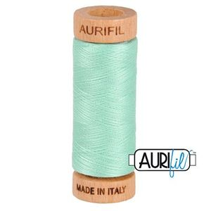 Aurifil 1080-2835 Cotton Mako Thread, 80wt 280m MEDIUM MINT