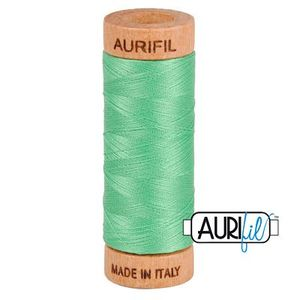 Aurifil 1080-2860 Cotton Mako Thread, 80wt 280m LIGHT EMERALD