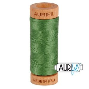 Aurifil 1080-2890 Cotton Mako Thread, 80wt 280m VERY DARK GRASS GREEN
