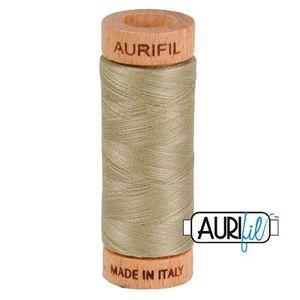 Aurifil 1080-2900 Cotton Mako Thread, 80wt 280m LIGHT KHAKI