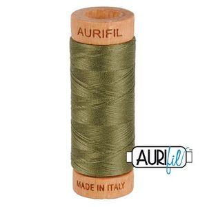 Aurifil 1080-2905 Cotton Mako Thread, 80wt 280m ARMY GREEN