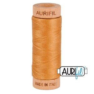 Aurifil 1080-2930 Cotton Mako Thread, 80wt 280m GOLDEN TOAST