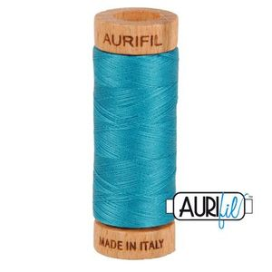 Aurifil 1080-4182 Cotton Mako Thread, 80wt 280m DARK TURQUOISE