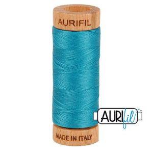 Aurifil 1080-4182 Cotton Mako Thread, 80wt 280m DARK TURQUOISE
