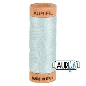 Aurifil 1080-5007 Cotton Mako Thread, 80wt 280m LIGHT GRAY BLUE