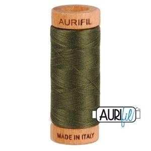 Aurifil 1080-5012 Cotton Mako Thread, 80wt 280m DARK GREEN